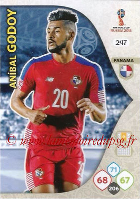 2018 - Panini FIFA World Cup Russia Adrenalyn XL - N° 247 - Anibal GODOY (Panama)