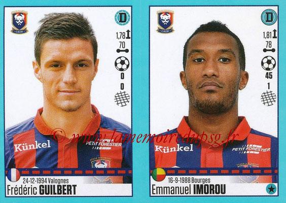 2016-17 - Panini Ligue 1 Stickers - N° 152 + 153 - Frédéric GUILBERT + Emmanuel IMOROU (Caen)