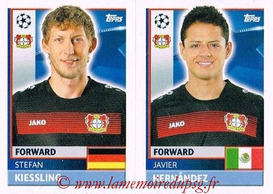 2016-17 - Topps UEFA Champions League Stickers - N° LEV 18-19 - Javier HERNANDEZ + Stefan KIESSLING (Bayer 04 Leverkusen)