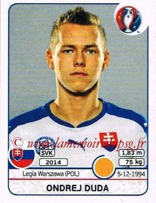 Panini Euro 2016 Stickers - N° 227 - Ondrej DUDA (Slovénie)