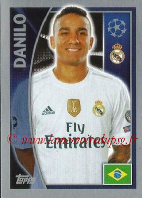 2015-16 - Topps UEFA Champions League Stickers - N° 037 - DANILO (Real Madrid CF)