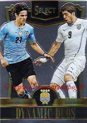 2015 - Panini Select Soccer - N° DD10 - Edinson CAVANI + Luis SUAREZ (Uruguay) (Dynamic Duos)