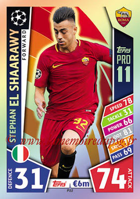 2017-18 - Topps UEFA Champions League Match Attax - N° P22 - Stephan EL SHAARAWY (AS Roma) (Pro 11)