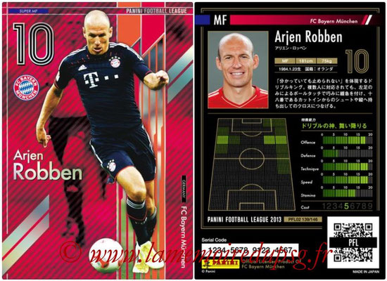 Panini Football League 2013 - PFL02 - N° 139 - Arjen Robben ( FC Bayern Munchen ) (Super MF)