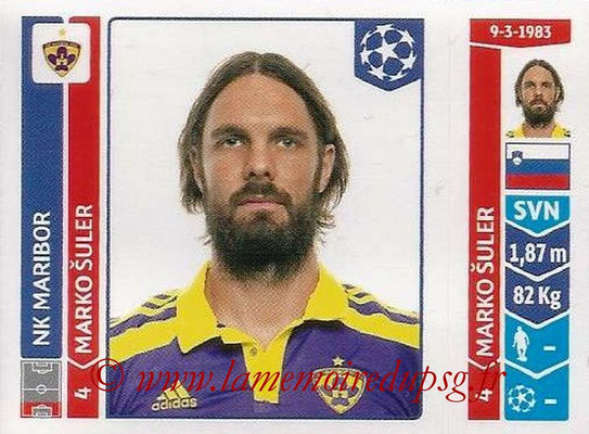 2014-15 - Panini Champions League N° 546 - Marko SULER (NK Maribor)