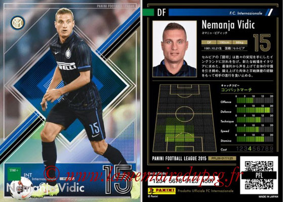 Panini Football League 2015 - PFL09 - N° 018 - Nemanja VIDIC (Inter) (Star +)
