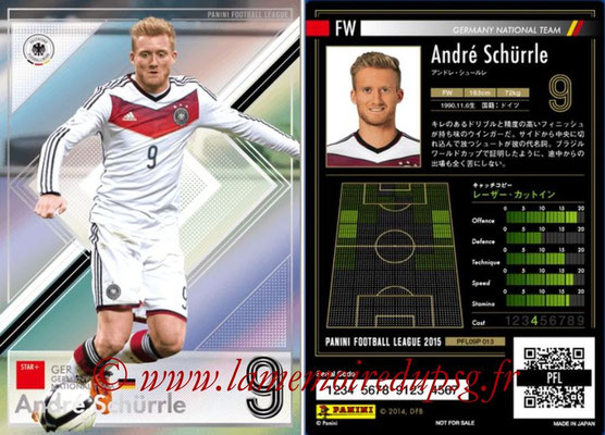 Panini Football League 2015 - PFL09P - N° 013 - André SCHÜRRLE (Allemagne) (Star +)