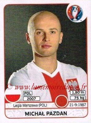 Panini Euro 2016 Stickers - N° 297 - Michal PAZDAN (Pologne)
