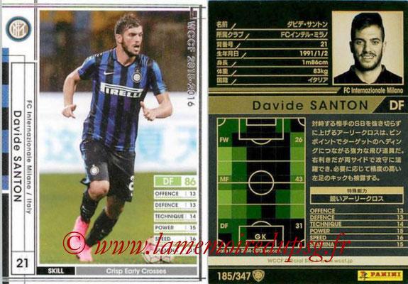 2015-16 - Panini WCCF - N° 185 - Davide SANTON (FC Inter Milan)