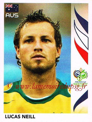 2006 - Panini FIFA World Cup Germany Stickers - N° 421 - Lucas NEILL (Australie)