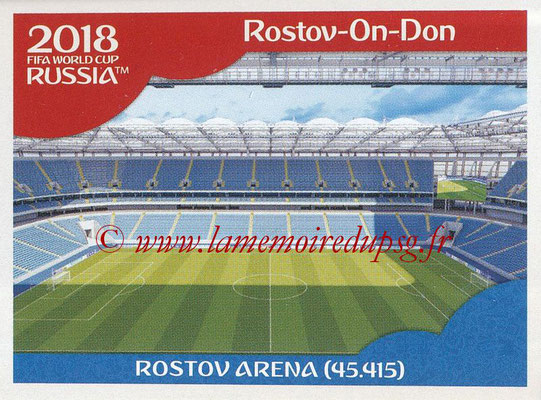 2018 - Panini FIFA World Cup Russia Stickers - N° 014 - Rostov Arena, Rostov-On-Don (Stades et Villes)