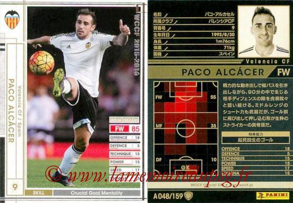 2015-16 - Panini WCCF - N° A048 - Paco ARUKASERU (Valence FC)