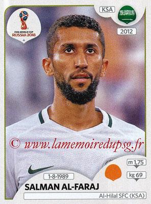 2018 - Panini FIFA World Cup Russia Stickers - N° 063 - Salman AL-FARAJ (Arabie Saoudite)