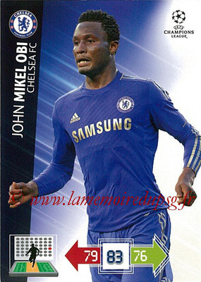2012-13 - Adrenalyn XL champions League N° 093 - John MIKEL OBI (Chelsea FC)