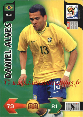 2010 - Panini FIFA World Cup South Africa Adrenalyn XL - N° 036 - Daniel ALVES (Bresil)