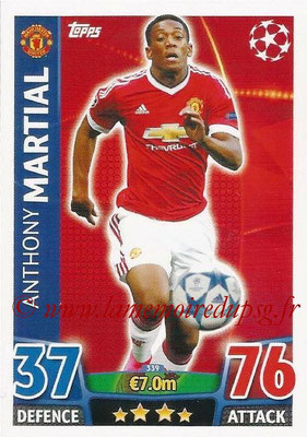 2015-16 - Topps UEFA Champions League Match Attax - N° 339 - Anthony MARTIAL (Manchester United)
