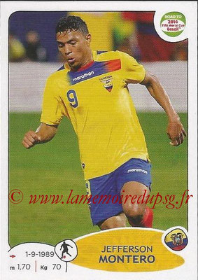 2014 - Panini Road to FIFA World Cup Brazil Stickers - N° 192 - Jefferson MONTERO (Equateur)