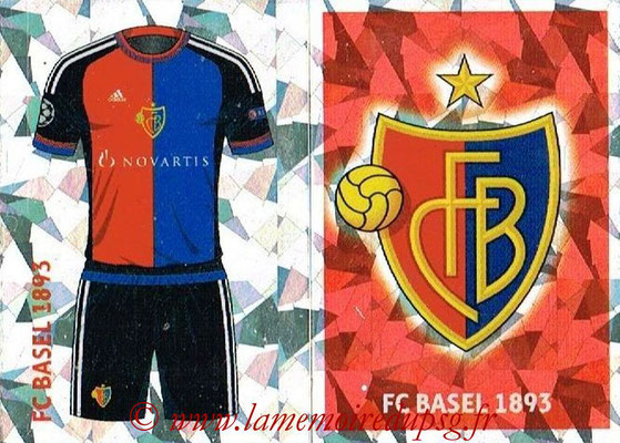 2016-17 - Topps UEFA Champions League Stickers - N° BAS 1-2 - Logo + Maillot Domicile (FC Basel 1893)