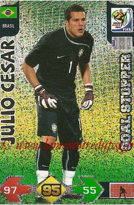 2010 - Panini FIFA World Cup South Africa Adrenalyn XL - N° 051 - Julio CESAR (Bresil) (Goal Stopper)