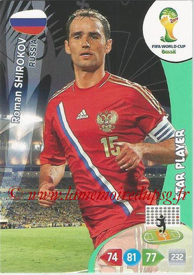 2014 - Panini FIFA World Cup Brazil Adrenalyn XL - N° 285 - Roman SHIROKOV (Russie) (Star Player)