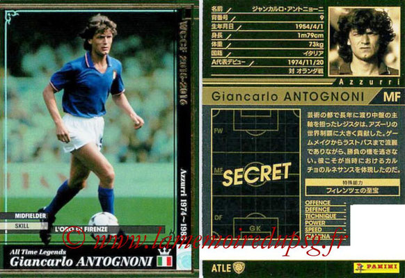 2015-16 - Panini WCCF - N° ATLE14 - Giancarlo ANTOGNONI (Italie) (All time Legends)