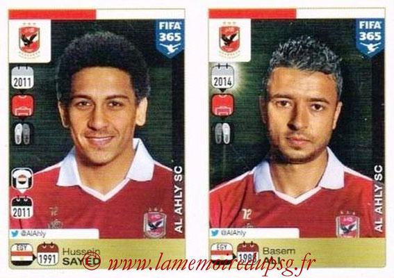 2015-16 - Panini FIFA 365 Stickers - N° 288-289 - Hussein SAYED + Basem ALI (Al Ahly SC)