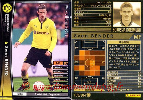2012-13 - WCCF - N° 103 - Sven BENDER (Borussia Dortmund)