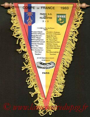 Moyens fanions  PSG-Nantes  1982-83