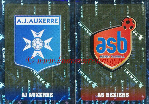 2018-19 - Panini Ligue 1 Stickers - N° 520 - Ecussons AJ Auxerre + AS Beziers