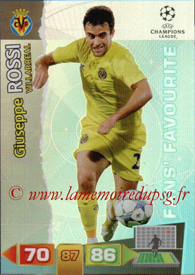 2011-12 - Panini Champions League Cards - N° 324 - Giuseppe ROSSI (Villarreal) (Fans' Favourite)