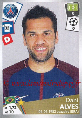 2017-18 - Panini Ligue 1 Stickers - N° 366 - Dani ALVES (Paris Saint-Germain)
