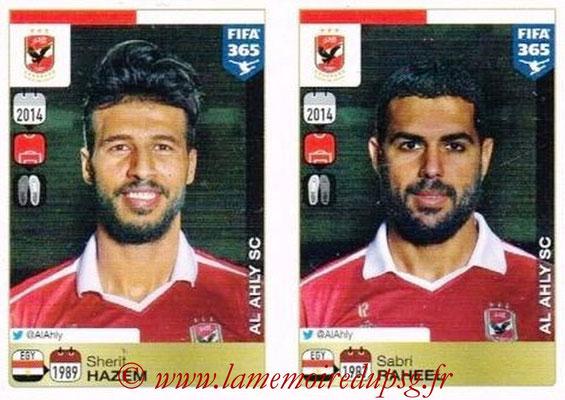 2015-16 - Panini FIFA 365 Stickers - N° 286-287 - Sherif HAZEM + Sabri RAHEEL (Al Ahly SC)