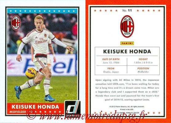 2015 - Panini Donruss Soccer - N° 011 - Keisuke HONDA (Milan AC)
