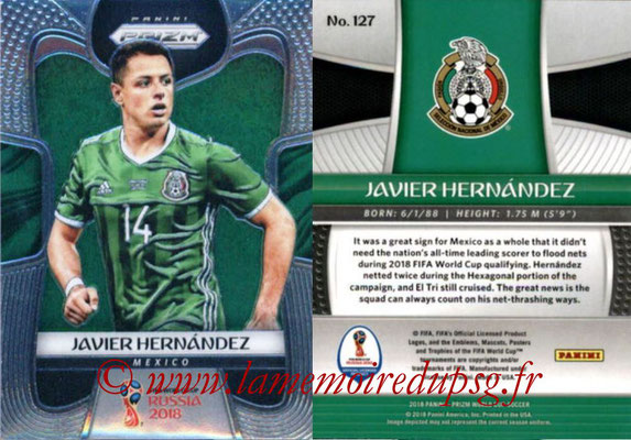 2018 - Panini Prizm FIFA World Cup Russia - N° 127 - Javier HERNANDEZ (Mexique)