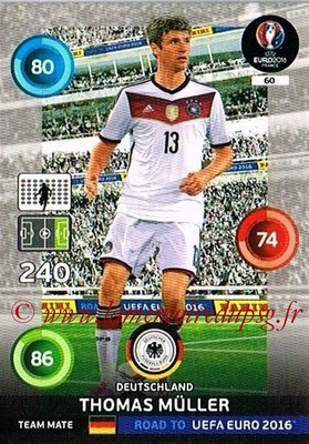 Panini Road to Euro 2016 Cards - N° 060 - Thomas MULLER (Allemagne)