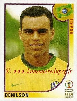 2002 - Panini FIFA World Cup Stickers - N° 182 - DENILSON (Brésil)
