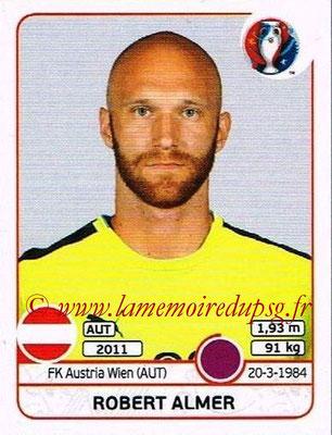 Panini Euro 2016 Stickers - N° 629 - Robert ALMER (Autriche)