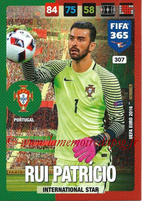 2016-17 - Panini Adrenalyn XL FIFA 365 - N° 307 - Rui PATRICIO (Portugal) (International Star)