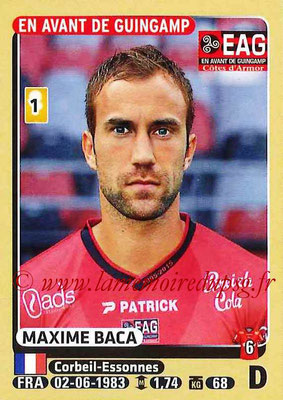 2015-16 - Panini Ligue 1 Stickers - N° 125 - Maxime BACA (EA Guingamp)