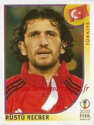 2002 - Panini FIFA World Cup Stickers - N° 189 - Rustu RECBER (Turquie)