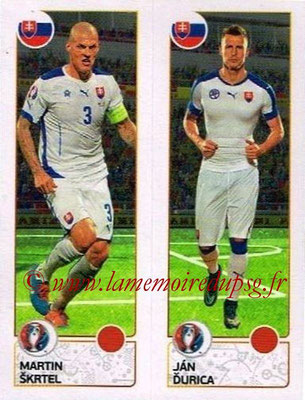 Panini Euro 2016 Stickers - N° 209 - Martin SKRTEL + Jan DURICA (Slovénie)
