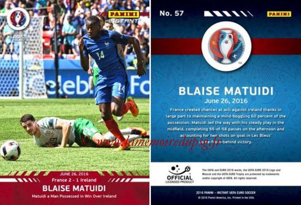 Panini Instant Euro 2016 - N° 057 - Blaise MATUIDI