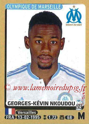 2015-16 - Panini Ligue 1 Stickers - N° 234 - Georges-Kévin NKOUDOU (Olympique de Marseille)