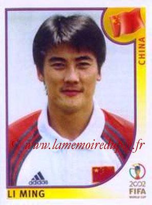 2002 - Panini FIFA World Cup Stickers - N° 213 - Li MING (Chine)