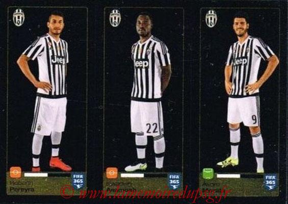 2015-16 - Panini FIFA 365 Stickers - N° 570-571-572 - Roberto PEREYRA + Kwadwo ASAMOAH + Álvaro MORATA (Juventus FC)