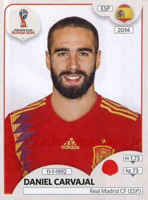 2018 - Panini FIFA World Cup Russia Stickers - N° 140 - Daniel CARVAJAL (Espagne)