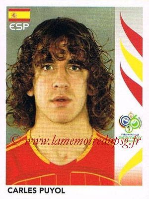 2006 - Panini FIFA World Cup Germany Stickers - N° 536 - Carles PUYOL (Espagne)