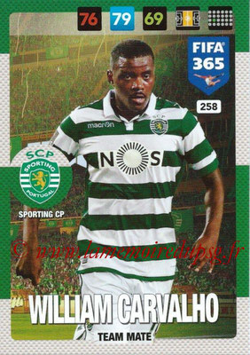 2016-17 - Panini Adrenalyn XL FIFA 365 - N° 258 - William CARVALLO (SportIng CP)