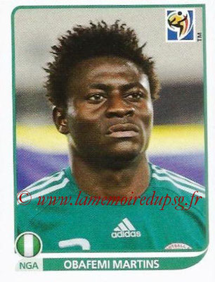 2010 - Panini FIFA World Cup South Africa Stickers - N° 142 - Obafemi MARTINS (Nigeria)