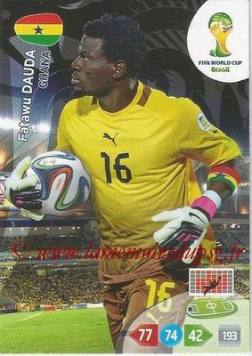 2014 - Panini FIFA World Cup Brazil Adrenalyn XL - N° 170 - Fatawu DAUDA (Ghana)